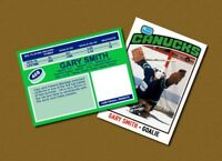 Gary Smith - Vancouver Canucks - Custom Hockey Card  - 1975-76