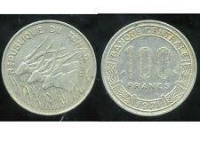 TCHAD  100 francs  1971