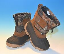 Ozark Trail Boys Girls Youth Camo Rubber Duck Boots Size 8 Liner