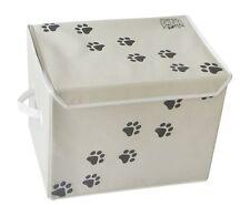 "LARGE Dog Toys Storage Box by Feline Ruff. 16"" x 12"" Pet Toy Storage Basket with"