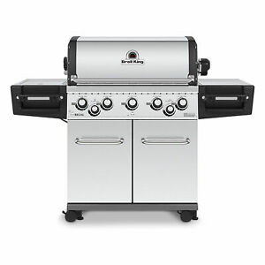 Broil King 5 Burner Regal S590 Pro Gas Powered Grill, Stainless Steel (Open Box)