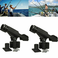 US Kayak Boat Fishing Pole Rod Holder Tackle Kit 2PC Adjustable Side Rail Mount