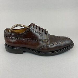 Church's Grafton Genuine Cordovan Brogues Derby WingTip Dainite Shoes 80 G UK8
