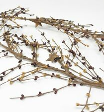 Pip Berry Garland with Rusty Stars 5ft