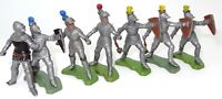 BRITAINS TOYS - KNIGHTS OF THE ROUND TABLE - 8 KNIGHTS - RARE HK PRODUCTION