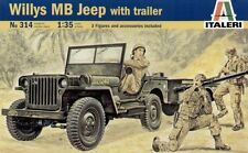 Italeri 314 1/35 Scale Military Model Kit WWII U.S Willys MB Jeep with Trailer