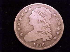 1836 Bust Quarter, Very Good Grade.