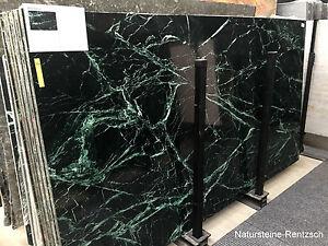 Tischplatte Marmor Naturstein schwarz/ grün geadert für Couchtisch Beistelltisch