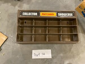 Vintage Matchbox Collector Showcase Brown 12 Car Holder