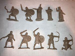 10 Publius Toy Jewish Hebrew Star David Archer Rock Thrower Shield  1/32 54mm