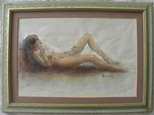 Piero LEDDI (San Sebastiano Curone 1930–2016) Nudo sdraiato Tecnica Mista 30x45