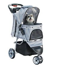Top Paw® 3 Wheel Basic Pet Stroller For Dogs Cats Up To 33 LBS- Foldable