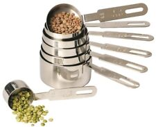 RSVP Endurance 18/8 Stainless Steel Measuring Cups with Long Handles - Set of 7