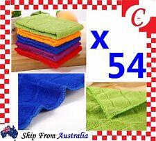 54 PC Microfibre Cleaning Cloth Microfiber Dish Car Gym Towel Glass Bulk New