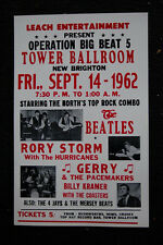 Beatles Tour Poster 1962 Tower Ballroom #1 Rory Storm