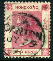 China 1882 Hong Kong 2¢ Rose Lake QV Wmk CCA SG #32 Canton CDS J570 ⭐⭐⭐⭐⭐⭐