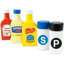 Condiments Set BBQ Kids Ketchup Mustard Salt Pepper Mayo Play Toy Toddler New