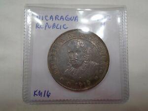 Nicaragua Republic 1912H 1 Cordoba KM16 Uncirculated