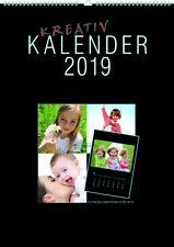 Fotokalender Bastelkalender 2019   A3 Format für Foto  20x30  cm