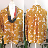 M&S Marks & Spencer Ladies Mustard Abstract Print Blouse Top Size 16 Work Office
