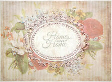 Rice paper -Sweet home badge- for Decoupage Scrapbooking Sheets