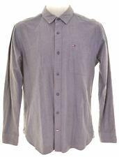 TOMMY HILFIGER Mens Shirt Small Grey Cotton Regular  CC02