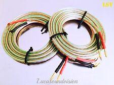 NEW OEHLBACH T-1010 2x4mm Speaker Cables 2x 3.0m (A Pair) Terminated