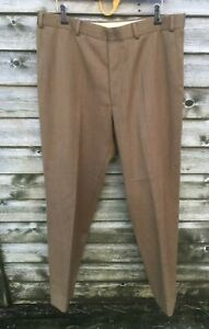 "HACKETT London LIGHT BROWN Pure New Wool MEN'S TROUSERS 36"" Worn Once"