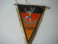 fanion Challans Vendée ESM basket ball vintage