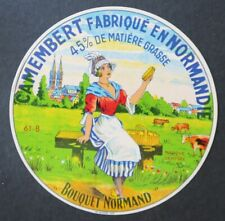 Etiquette fromage CAMEMBERT BOUQUET NORMAND   french cheese label 26