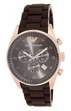 ARMANI Edelstahl-Armbanduhren mit Chronograph