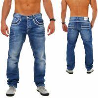 CIPO & BAXX Herren Denim Jeans Hose Vintage Look Straight Cut Regular Fit C-1127