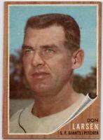 1962 Topps #33 Don Larsen EX-EXMT San Francisco Giants FREE SHIPPING