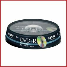 TDK DVD+R 4.7Gb 16x Spindle 10 recordable blank tdk dvdr 4.7 gb dvd+r