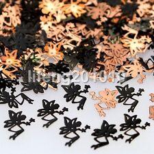 Black metal nail foil decals sticker 3d nail art decorations tools ELF Design