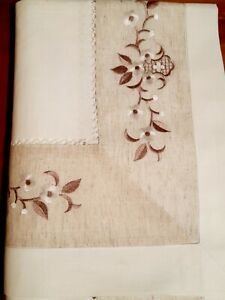Rectangle 160*240cm X/Wide Linen/Look Oatmeal Leaf Premium Polyester T/Cloth