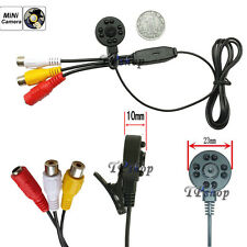MINI MICRO TELECAMERA CAMERA CAM SPIA SPY 8LED CMOS COLORI AUDIO VIDEO MICROFONO