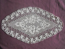 #1195 Beautiful Vintage Hand Made Doily 54cm/31cm/(21'' x12'')