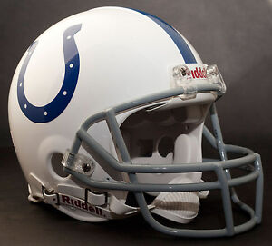 MARVIN HARRISON Edition INDIANAPOLIS COLTS Riddell AUTHENTIC Football Helmet NFL