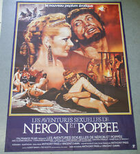 Affiche de cinéma : LES AVENTURES SEXUELLES DE NERON ET POPEE de DAWN érotique