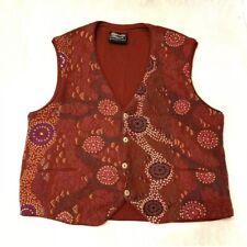 Gabriella Possum Merino Wool Red M Painting Australia Vest Art To Wear XL