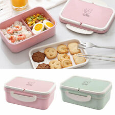 3 Compartments Bento Lunch Box for Kids Adult Snack Food Storage Containers Box