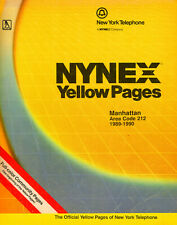 Phonebook NYC New York Manhattan 1989 Yellow Pages-first source 1988 pages
