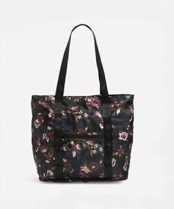 NWT Vera Bradley Packable Tote Bag in 'Garden Dream' Travel or Beach!