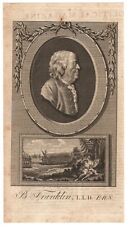 1780 Copperplate Engraving of Benjamin Franklin - Used by Franklin in His Book