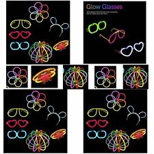 Glow stick Connector party Pack Eye glasses,Flower,Butterfly Birthday party 7pcs