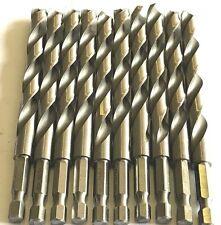 """23/64"""" Drill Bit 1/4"""" Hex Shank Quick Change High Speed Steel 20 Pack"""