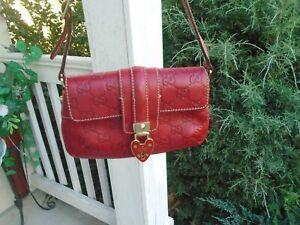 Authentic Gucci monogram signature logo mini handbag
