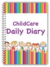 A5 CHILDCARE  DAILY DIARY, CHILDMINDER, EYFS, DAILY RECORD KEEPING LOG BOOK TR