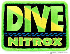 DIVE NITROX - EMBROIDERED PATCH SCUBA DIVING FLAG LOGO IRON-ON TRAVEL SOUVENIR